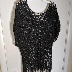 Large knit shrug boho